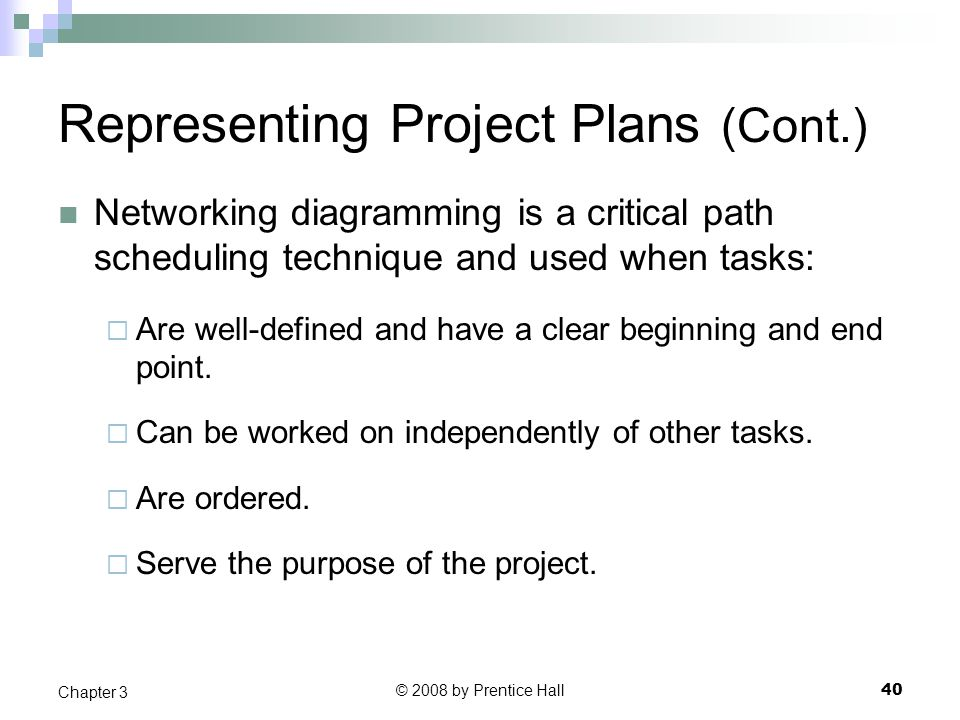 Representing Project Plans (Cont.)