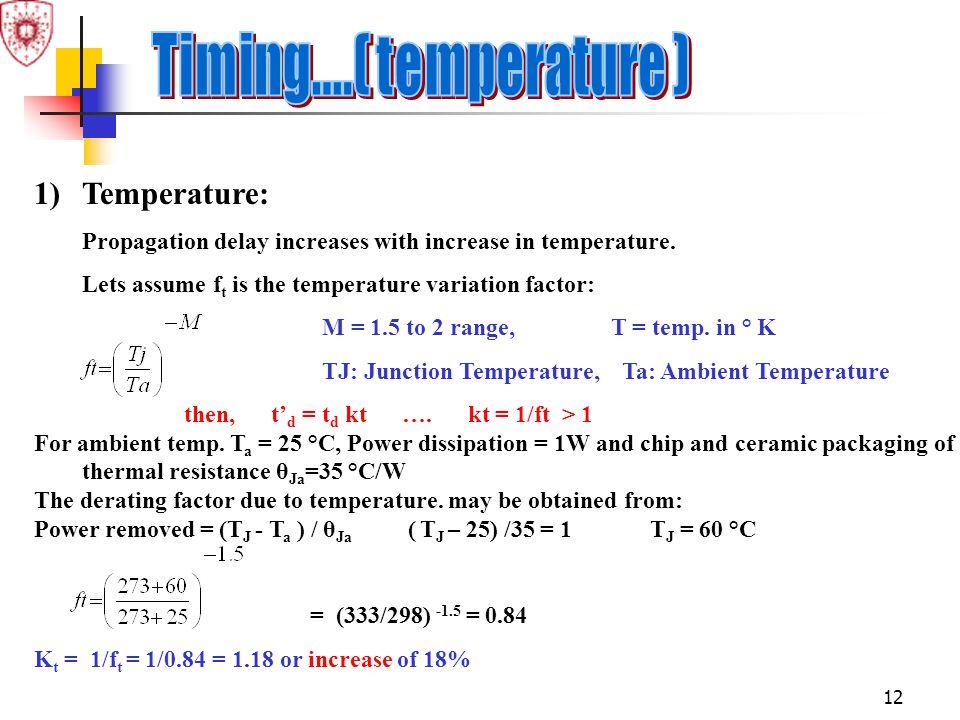 Timing....( temperature ) Temperature: