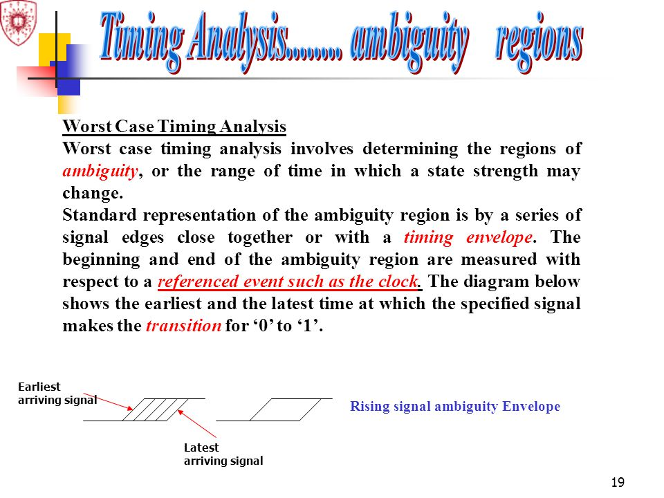 Timing Analysis........ ambiguity regions