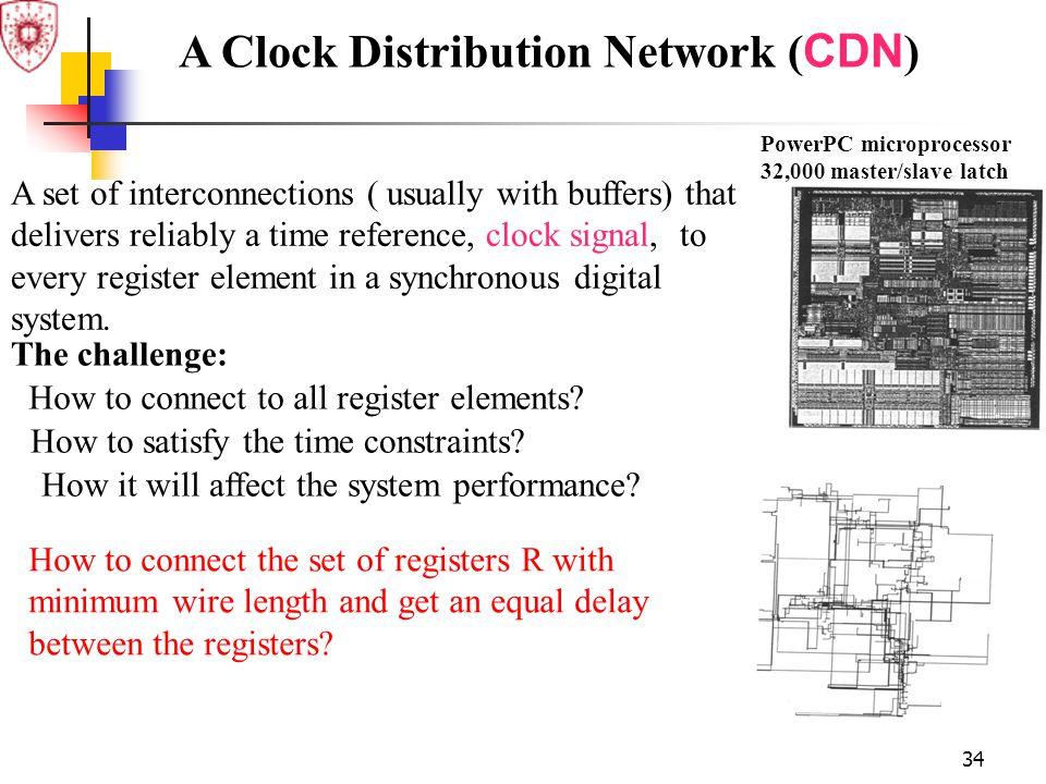 A Clock Distribution Network (CDN)