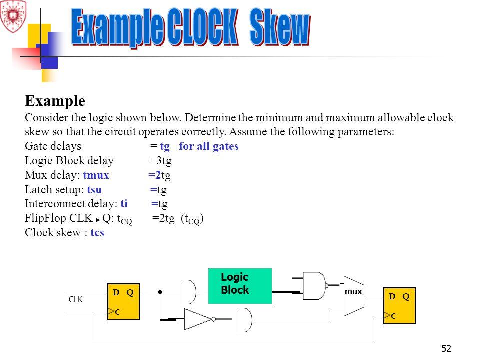 Example CLOCK Skew Example