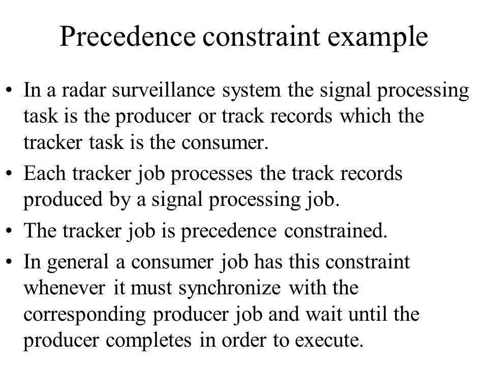 Precedence constraint example