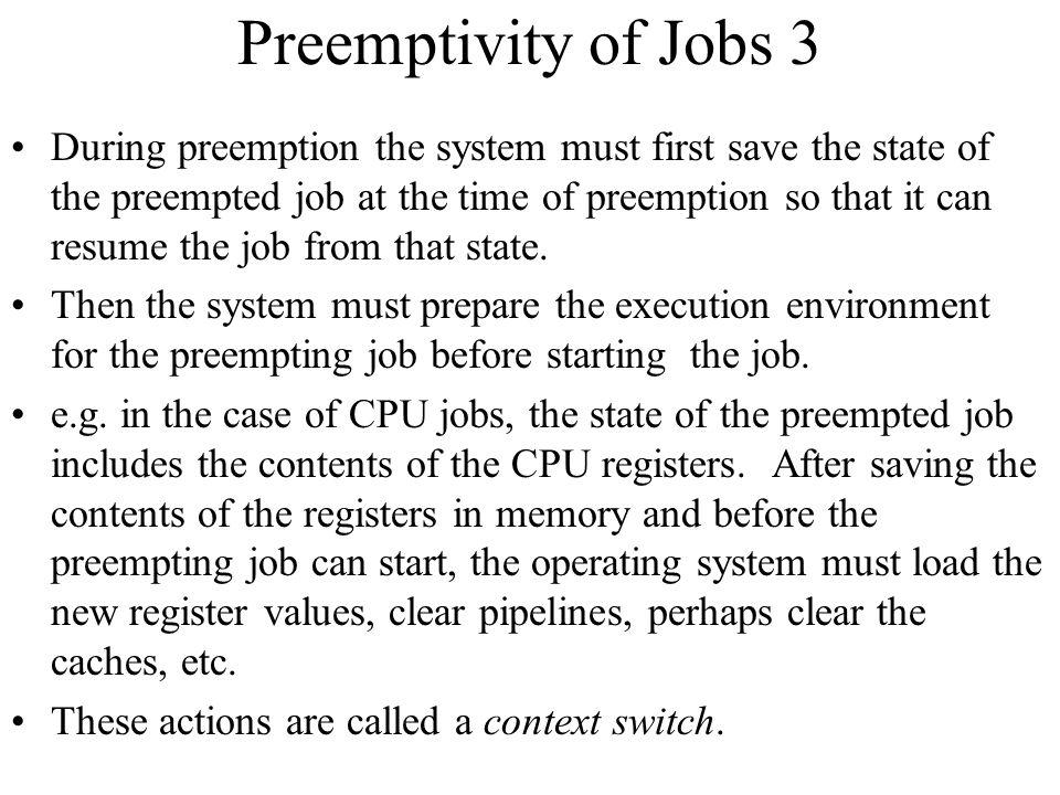 Preemptivity of Jobs 3