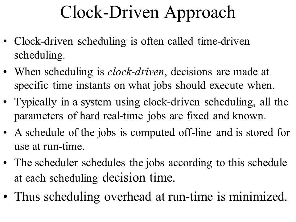 Clock-Driven Approach