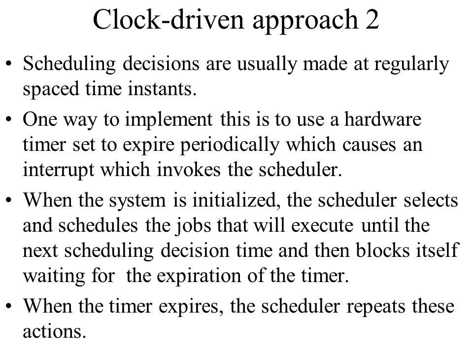 Clock-driven approach 2