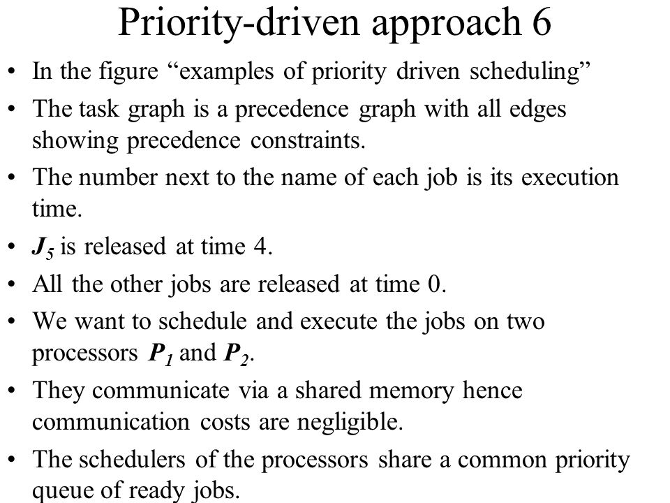 Priority-driven approach 6