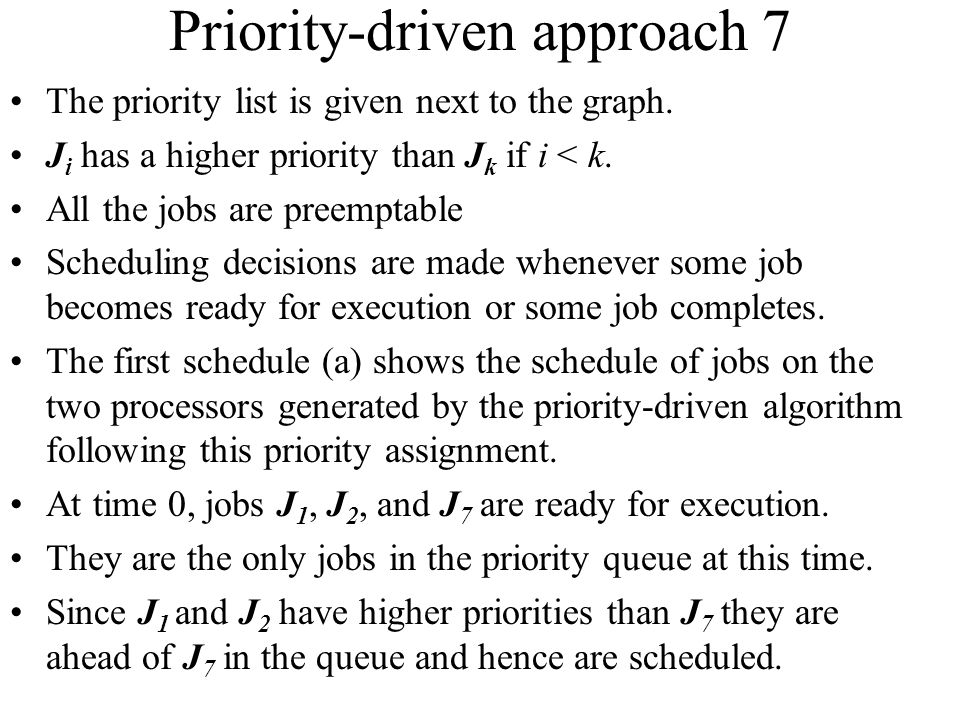 Priority-driven approach 7