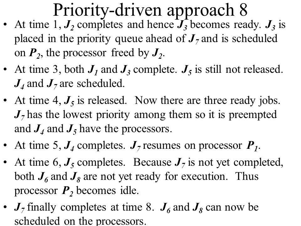 Priority-driven approach 8