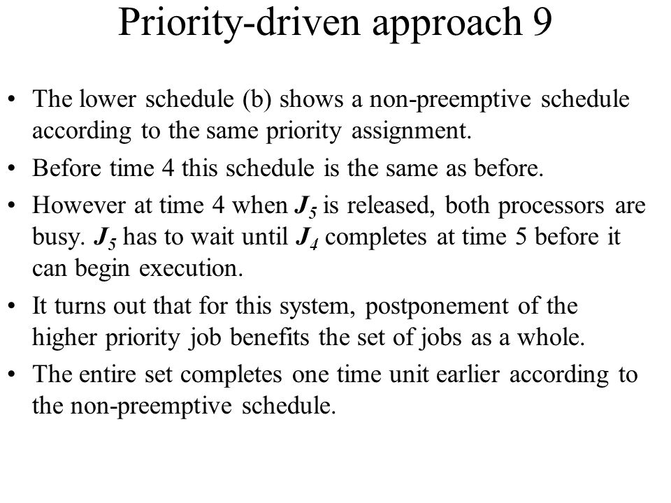 Priority-driven approach 9