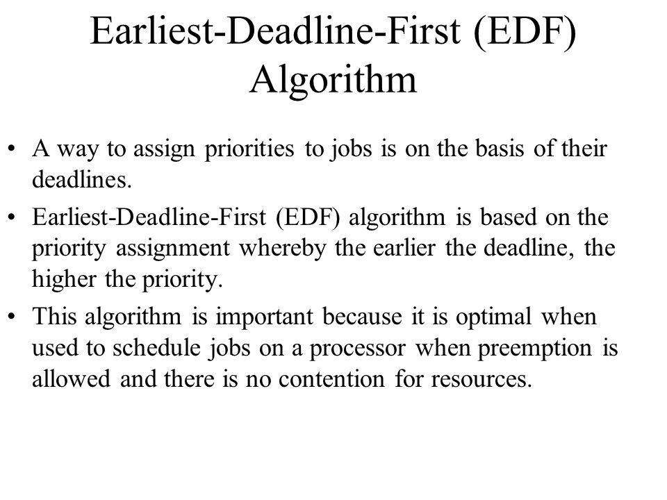 Earliest-Deadline-First (EDF) Algorithm