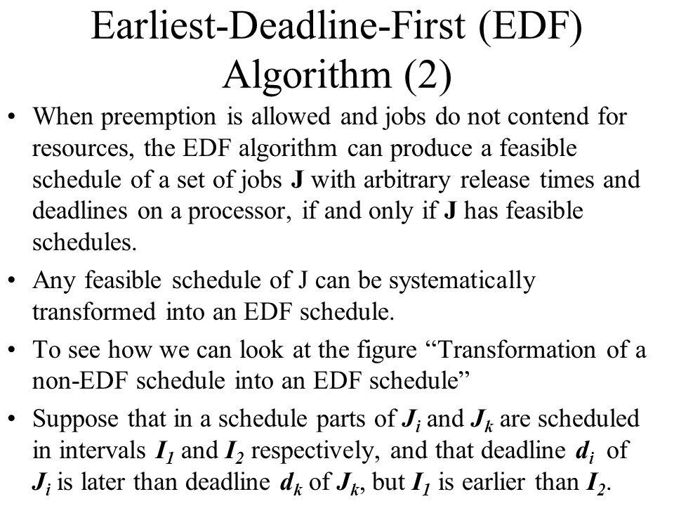 Earliest-Deadline-First (EDF) Algorithm (2)