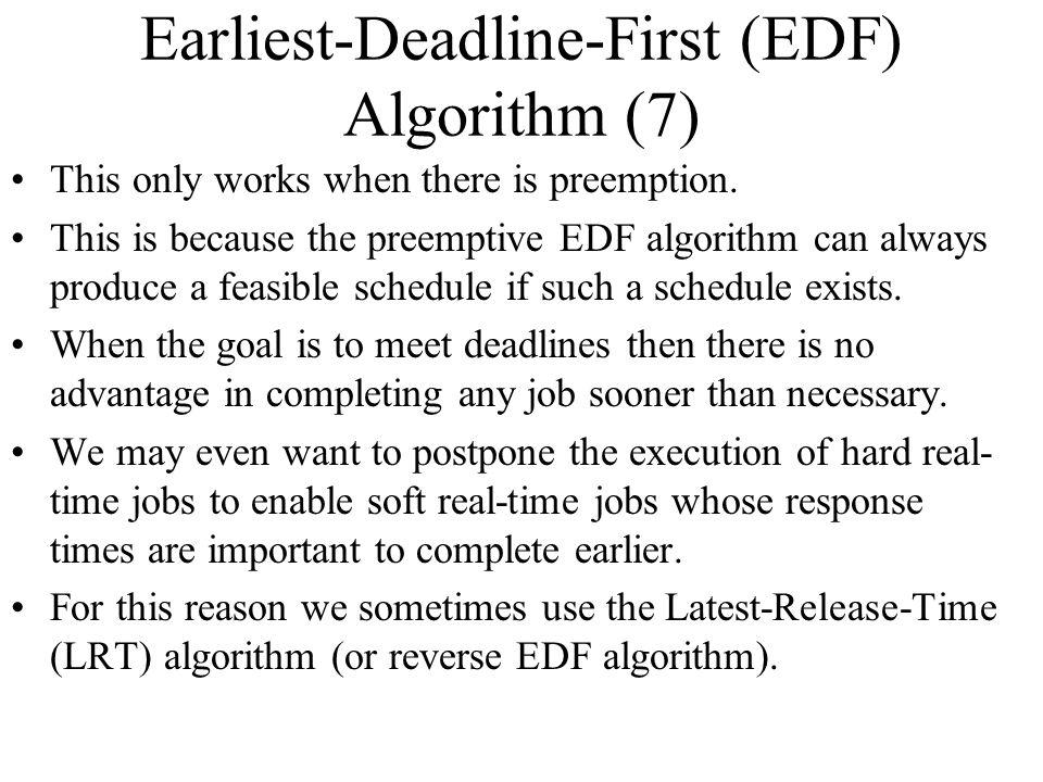 Earliest-Deadline-First (EDF) Algorithm (7)
