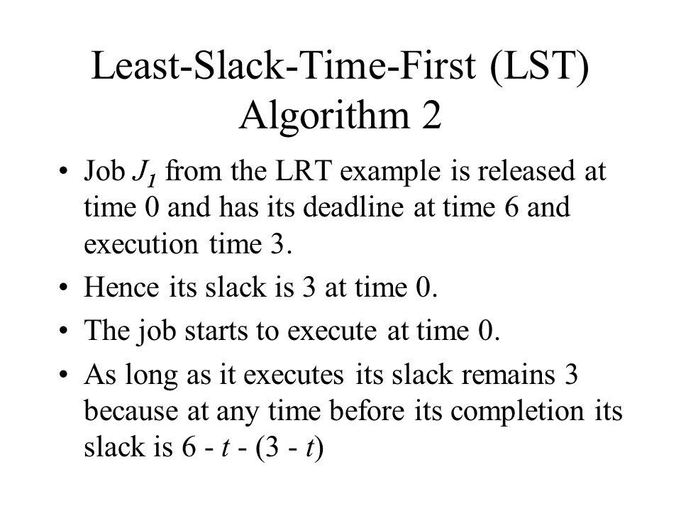 Least-Slack-Time-First (LST) Algorithm 2
