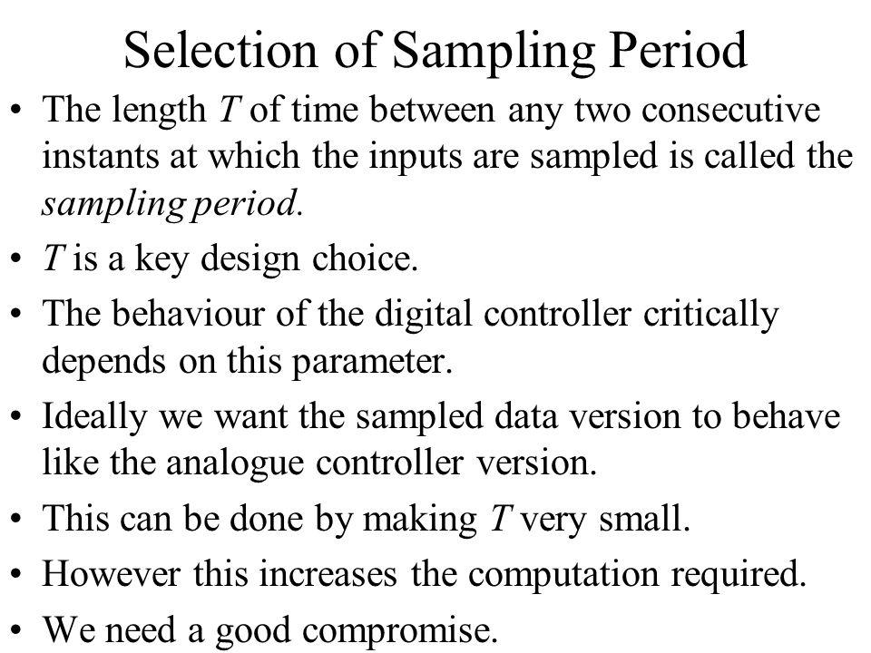 Selection of Sampling Period