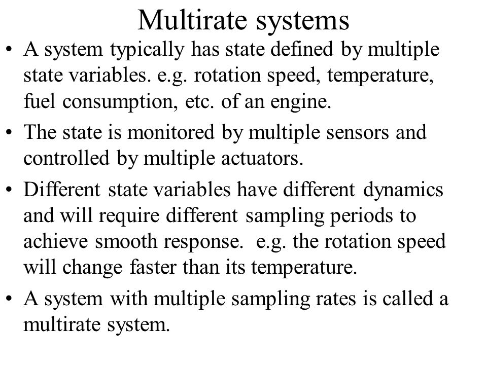 Multirate systems