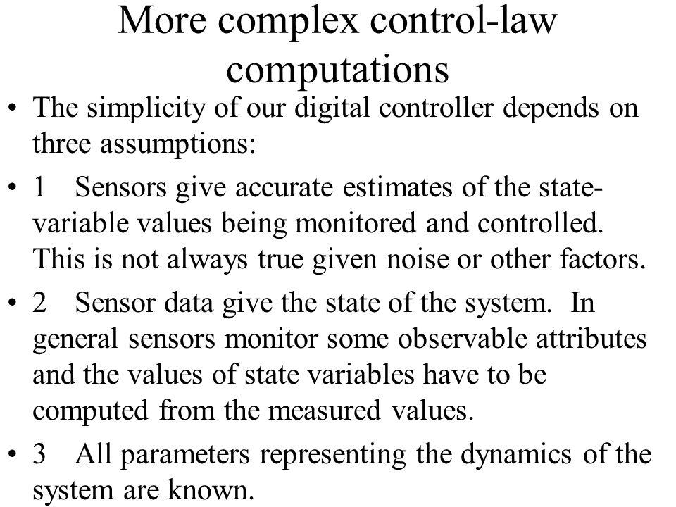 More complex control-law computations