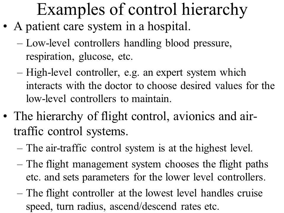 Examples of control hierarchy