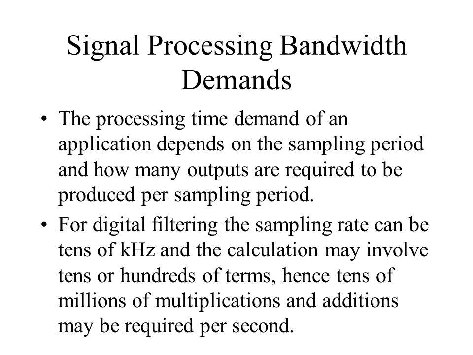 Signal Processing Bandwidth Demands