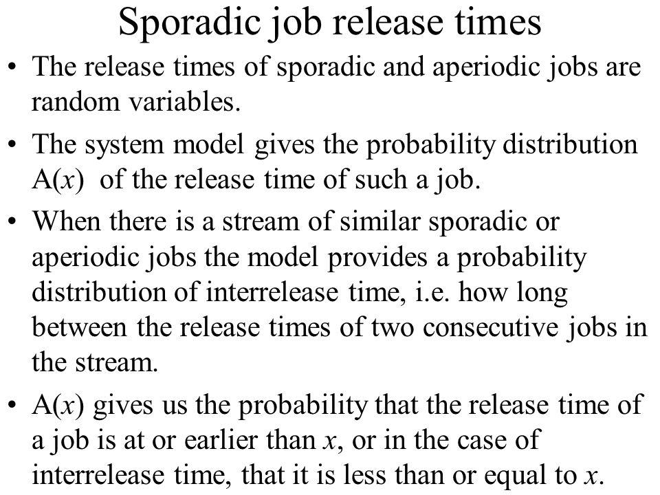 Sporadic job release times