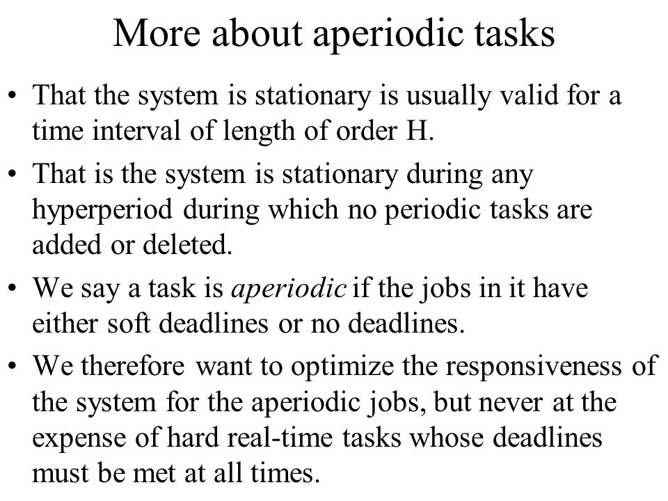 More about aperiodic tasks