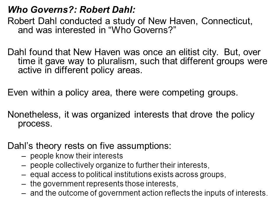 Who Governs : Robert Dahl: