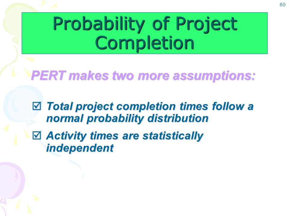 Probability of Project Completion