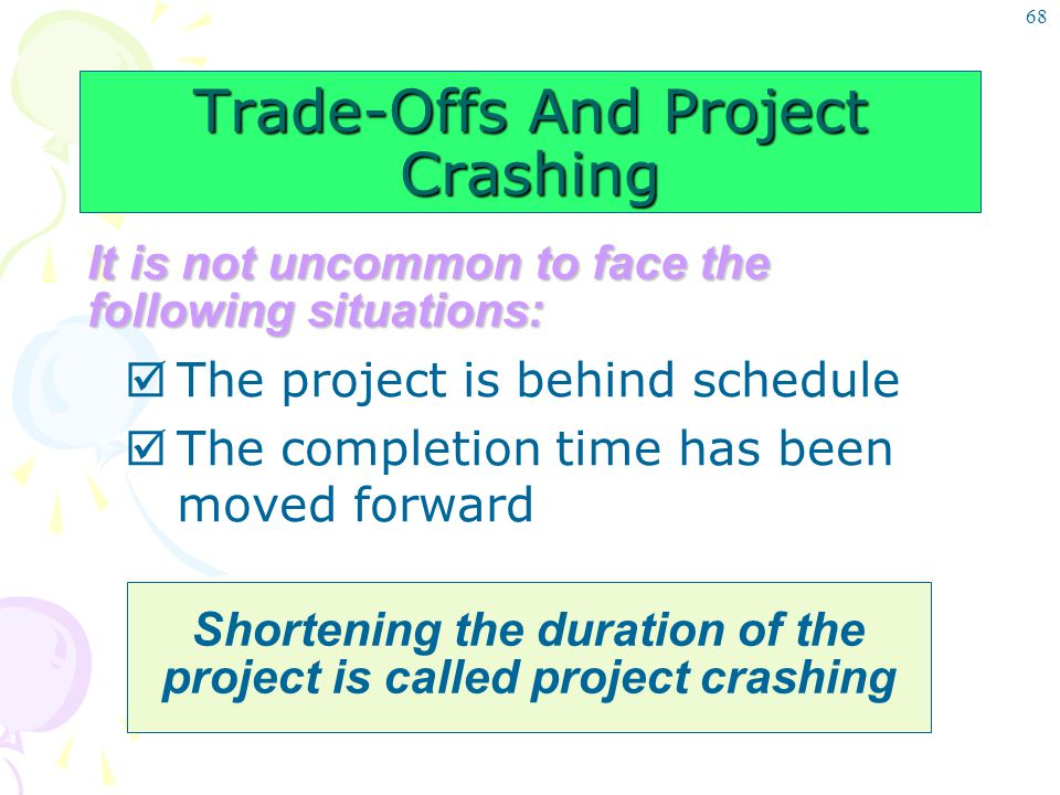Trade-Offs And Project Crashing