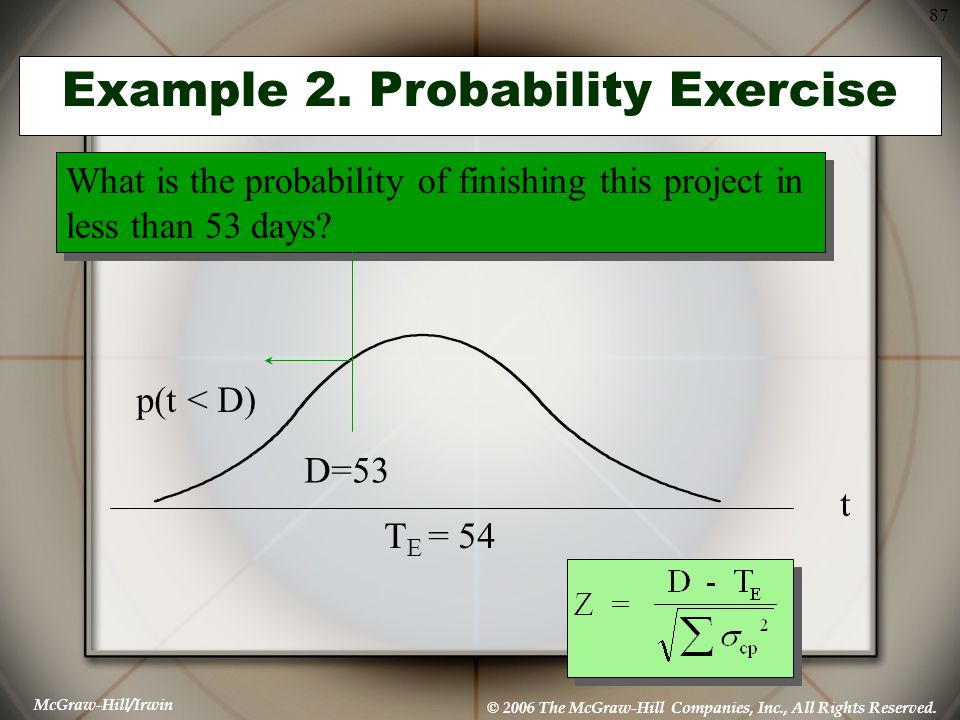 Example 2. Probability Exercise