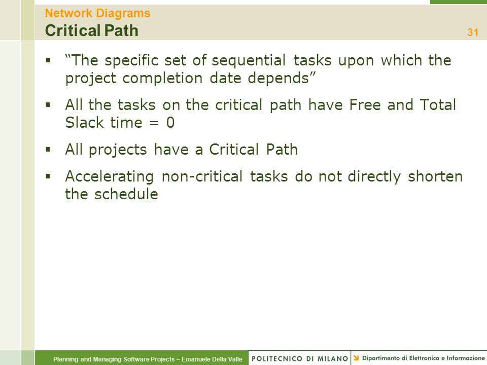 Network Diagrams Critical Path
