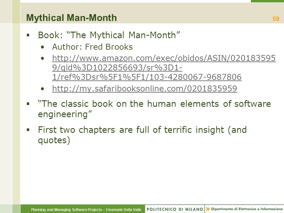 Mythical Man-Month Book: The Mythical Man-Month