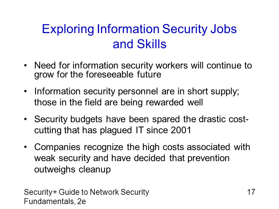 Exploring Information Security Jobs and Skills