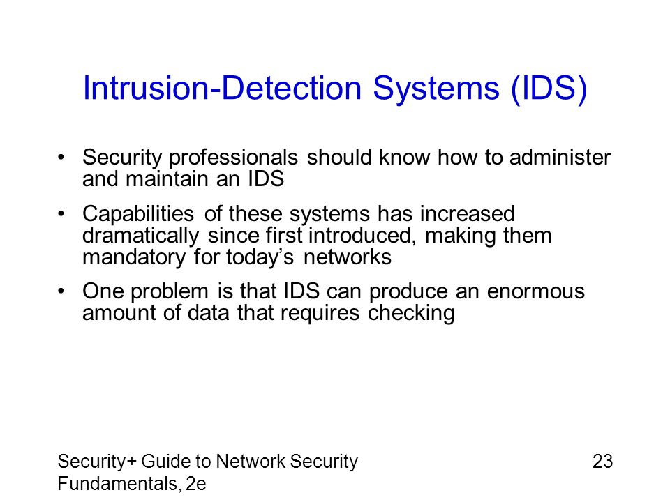 Intrusion-Detection Systems (IDS)