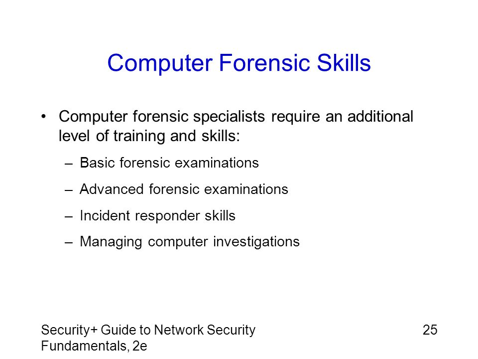 Computer Forensic Skills