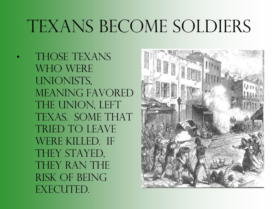 Texans Become Soldiers