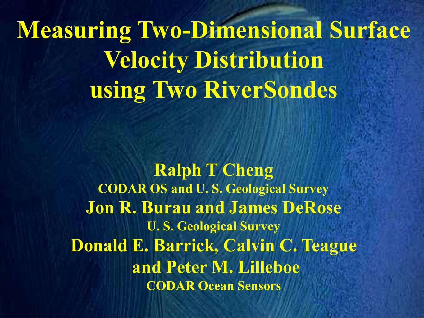 Measuring Two-Dimensional Surface Velocity Distribution