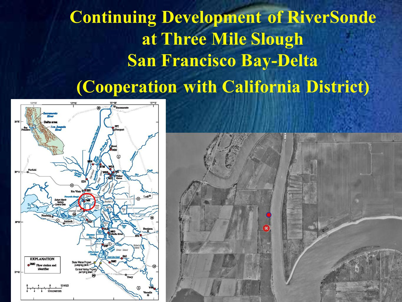 Continuing Development of RiverSonde at Three Mile Slough