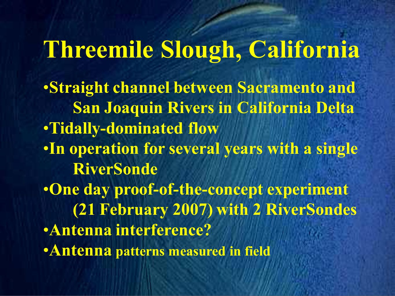 Threemile Slough, California
