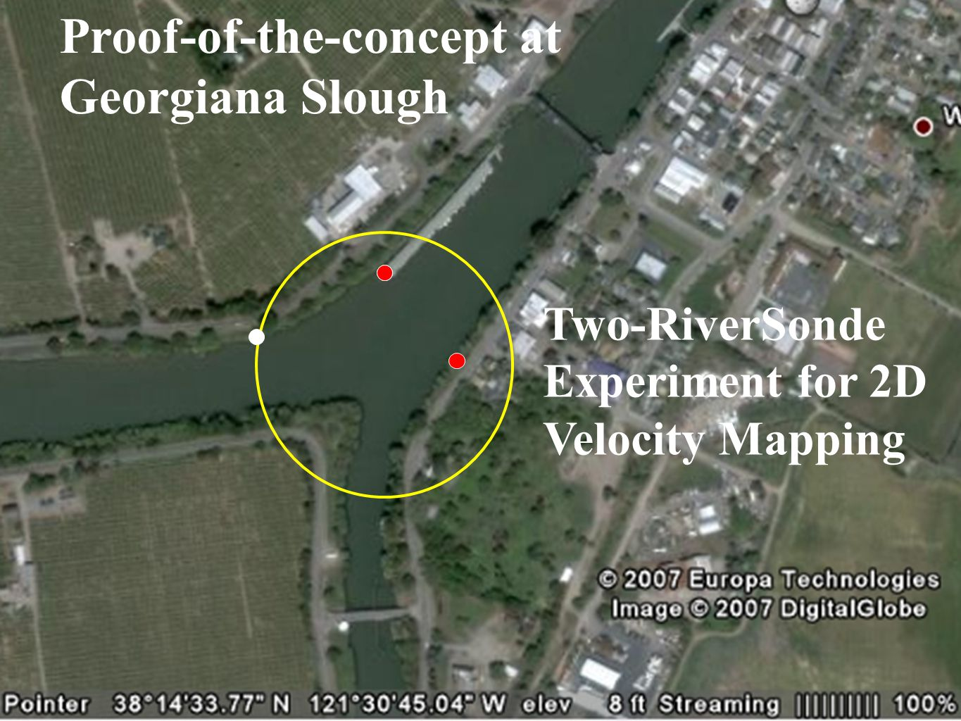 Proof-of-the-concept at Georgiana Slough