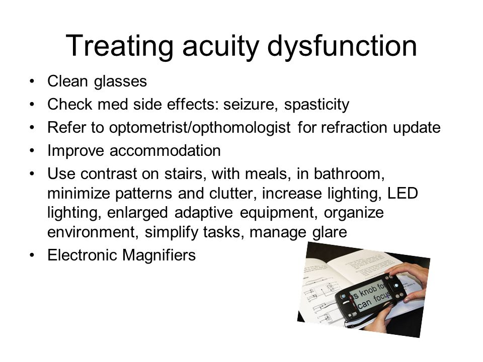 Treating acuity dysfunction