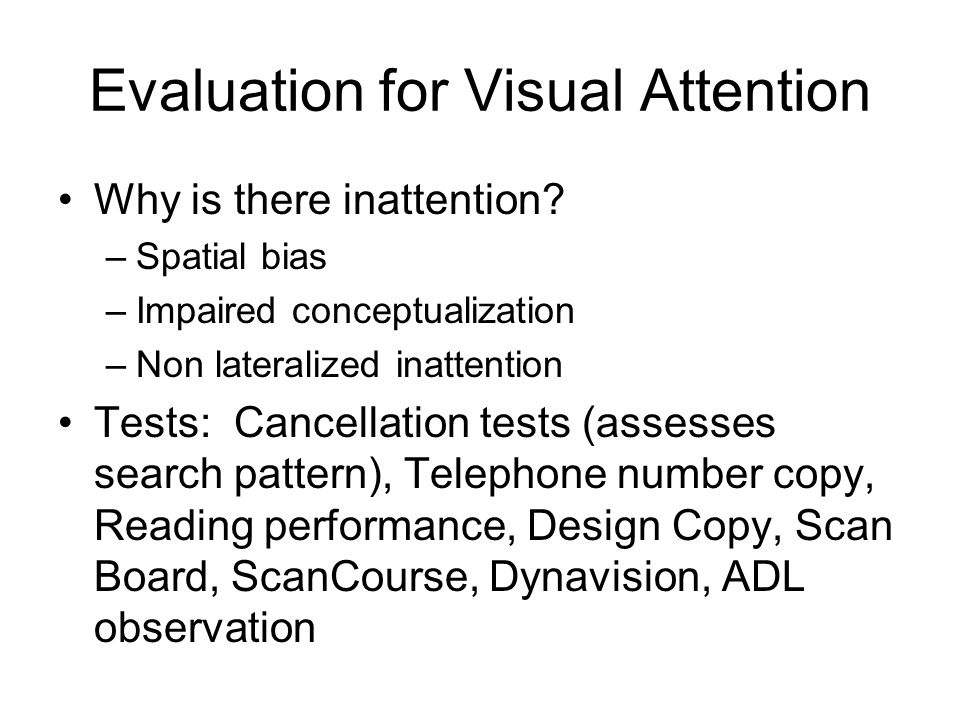 Evaluation for Visual Attention