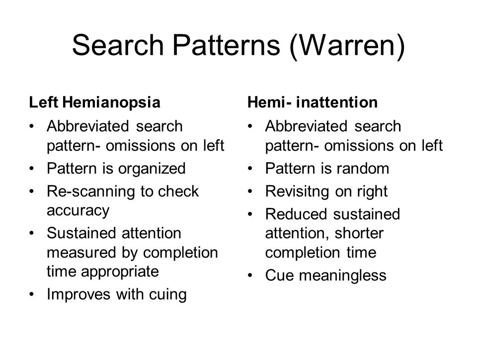 Search Patterns (Warren)