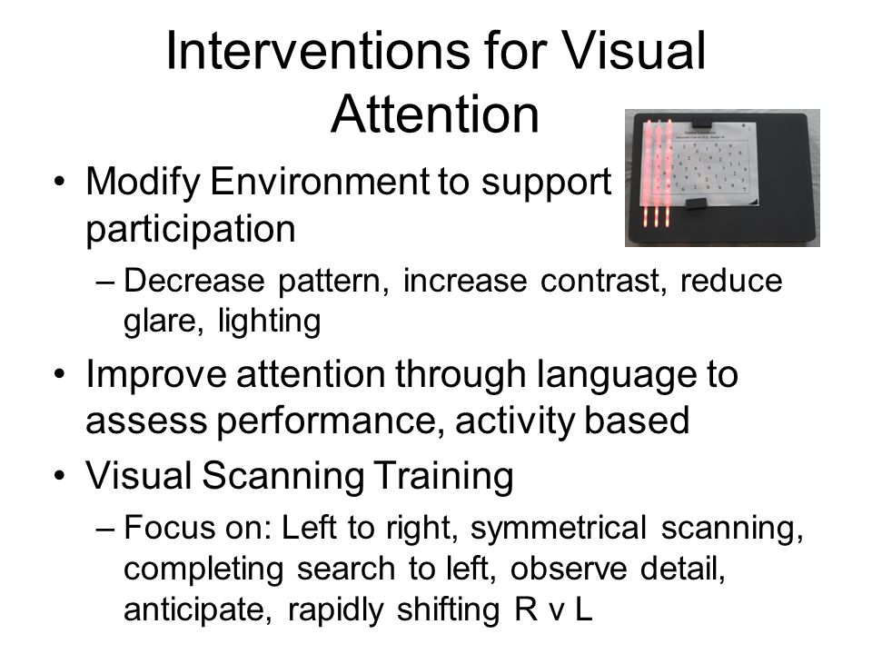 Interventions for Visual Attention