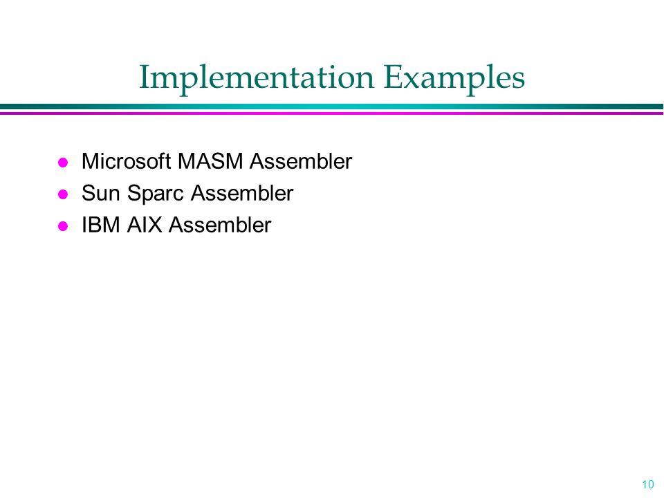 Implementation Examples