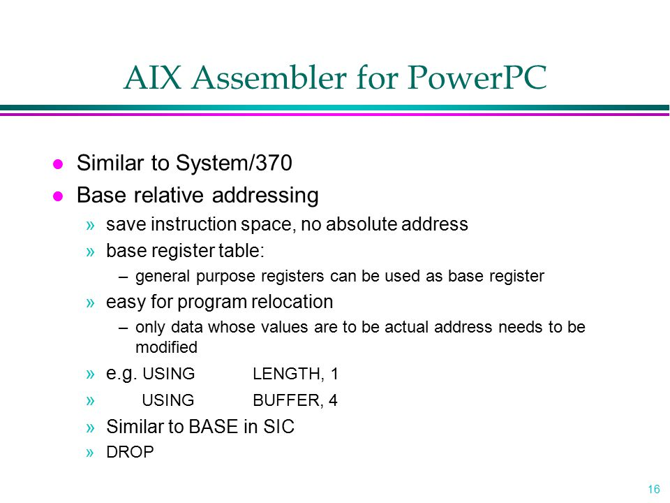 AIX Assembler for PowerPC