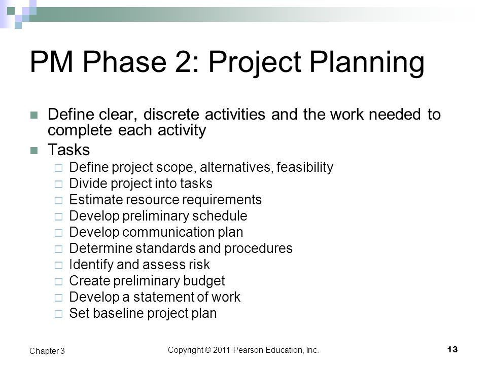 PM Phase 2: Project Planning