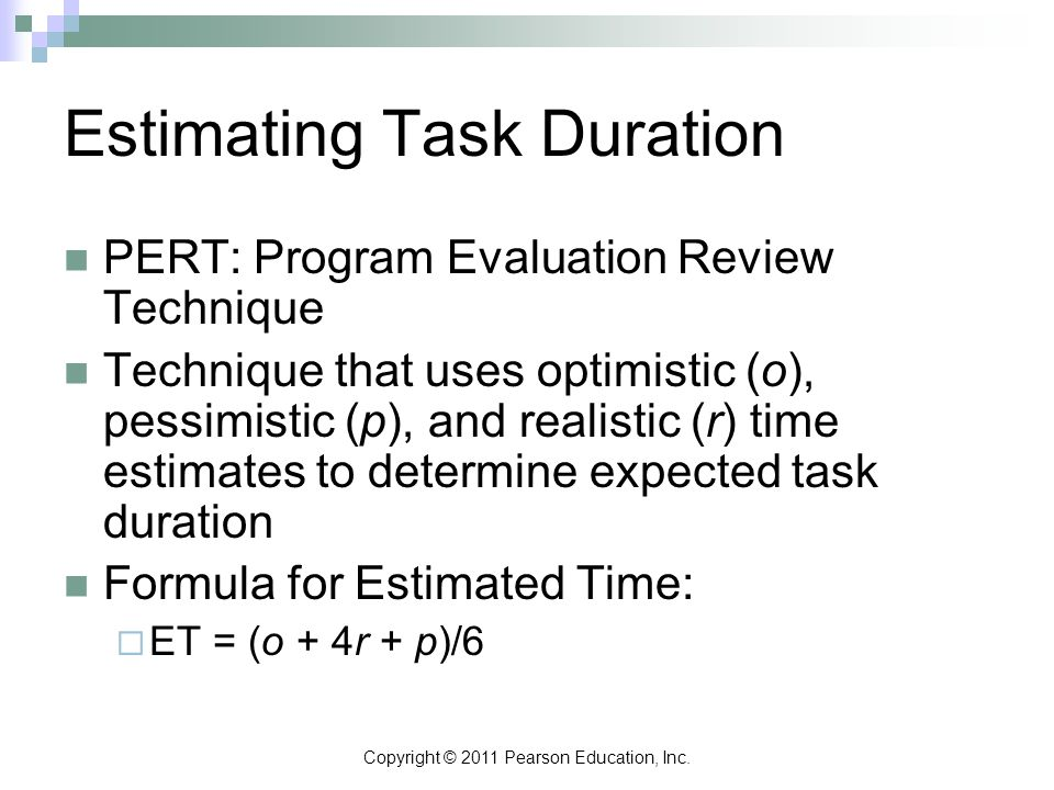 Estimating Task Duration