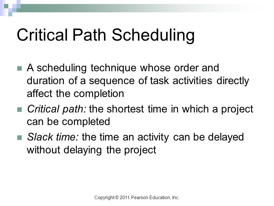 Critical Path Scheduling