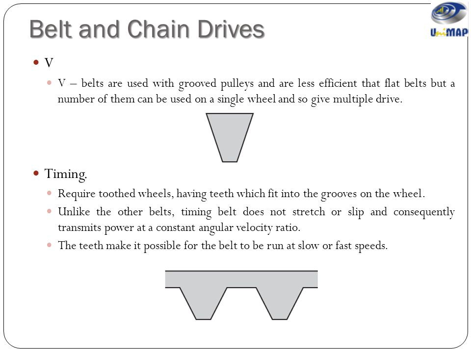 Belt and Chain Drives V Timing.