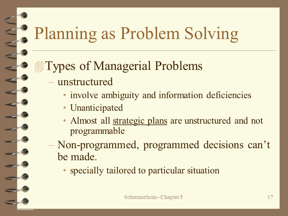 Planning as Problem Solving