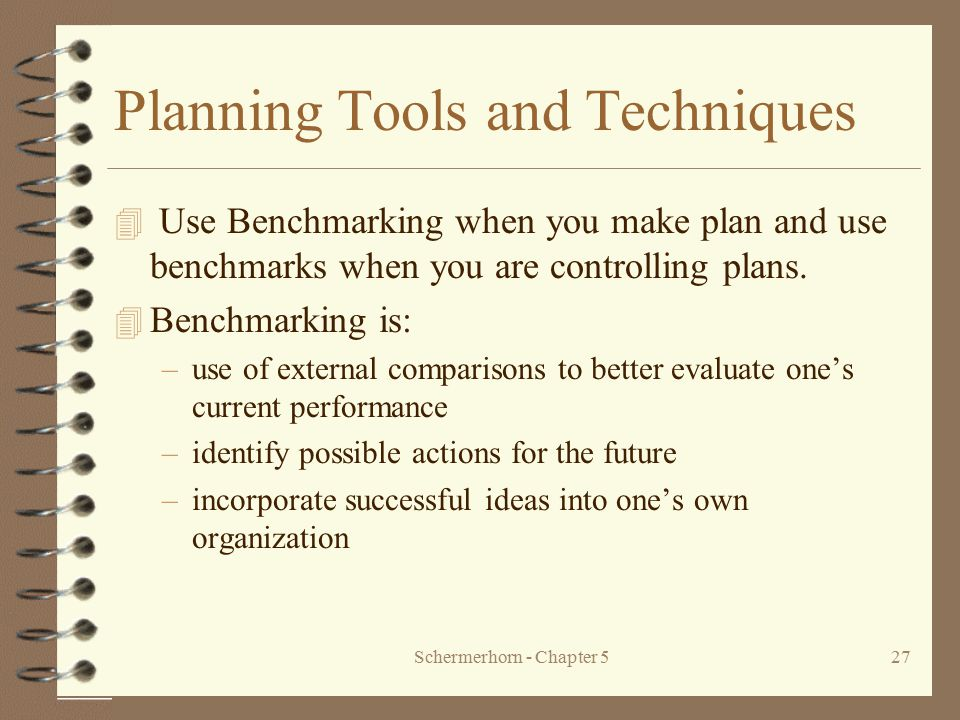 Planning Tools and Techniques